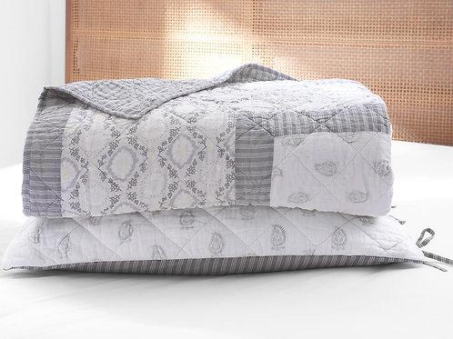 100% Long Staple Cotton Voile Block Printed Quilt Set