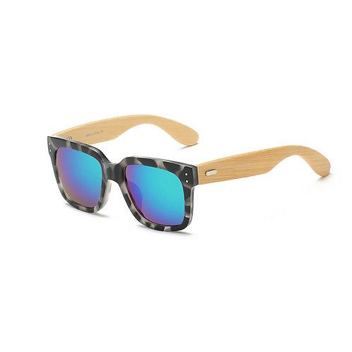 Black and White Wooden Wayfarer Glasses