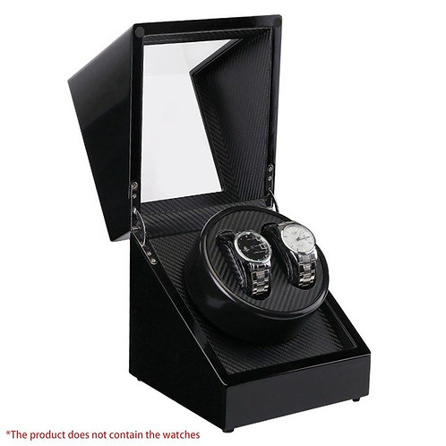 Double Watch Winders Wooden Lacquer Piano Glossy