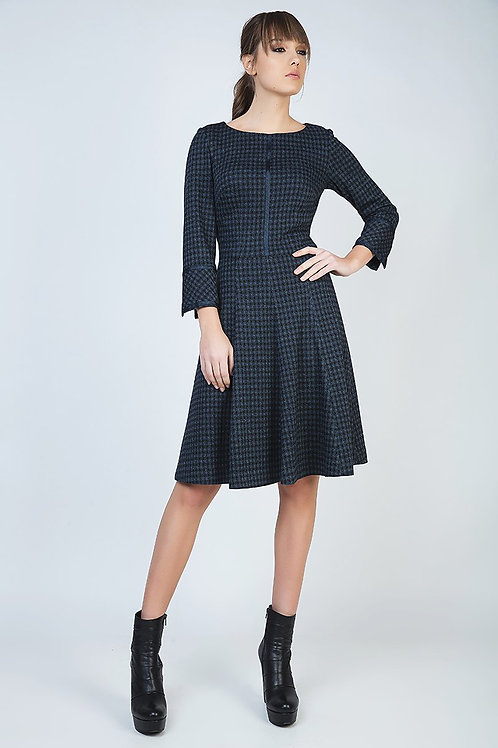 Check Fit and Flare Dress