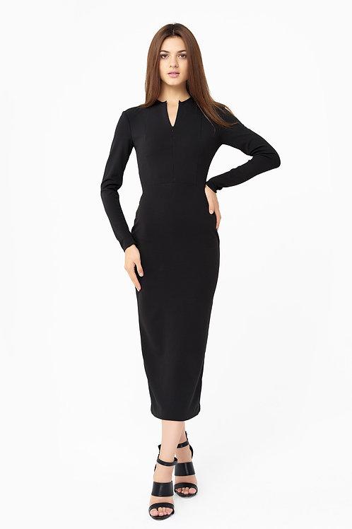 Elegant Black Fitted Dress