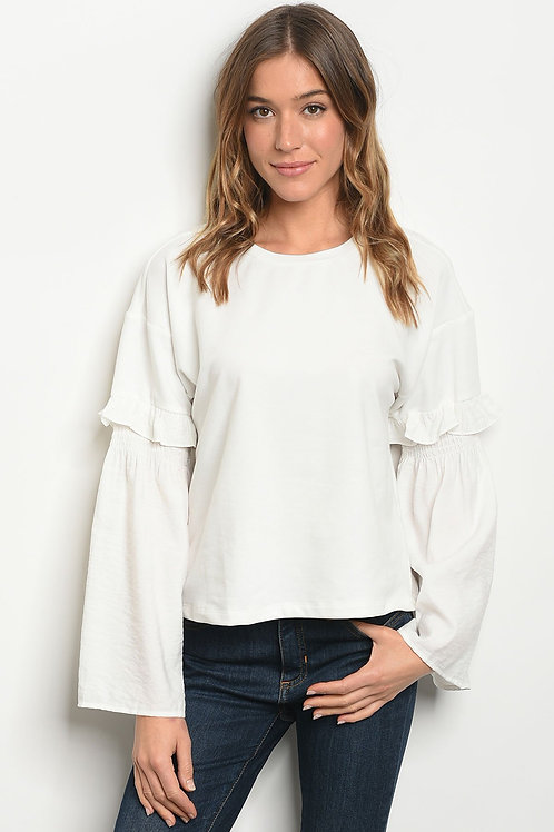 Womens Off White Top