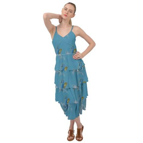 Blue Seahorses Layered Dress