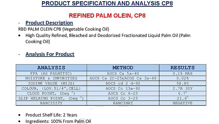 Palm Oil CP8