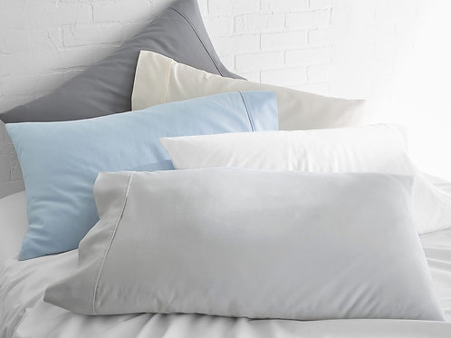 100% Supima Cotton, 500 Thread Count Sateen Solid Pillowcases (Pair)