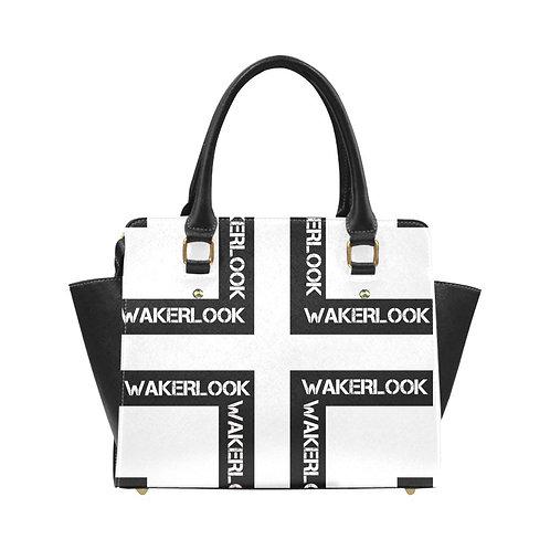 White Classic Wakerlook Shoulder Handbag