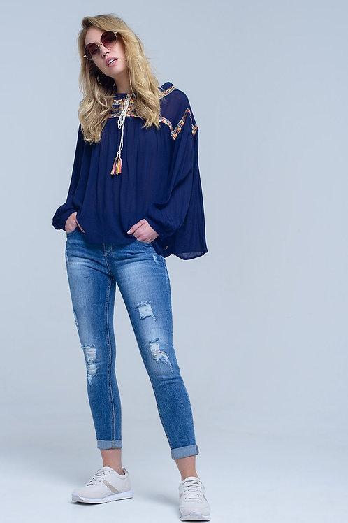 Distressed Ripped Skinny Jean