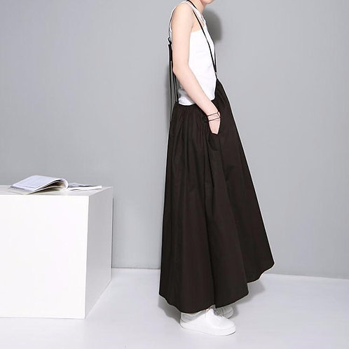 Baghy Tie Skirt Dress - Black