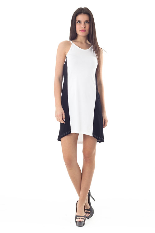 Two Tone Mullet Cut Dress