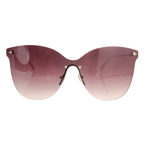 Black Visor Cat Eye Sunglasses