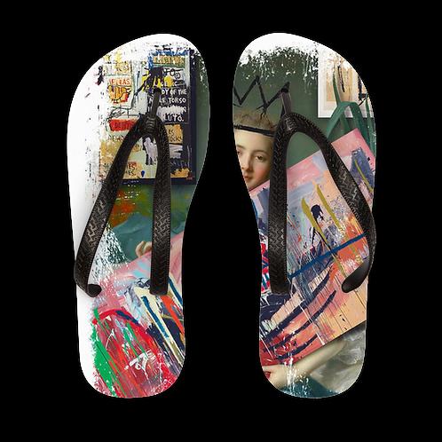 Basquiat Fan Adult Flip Flops