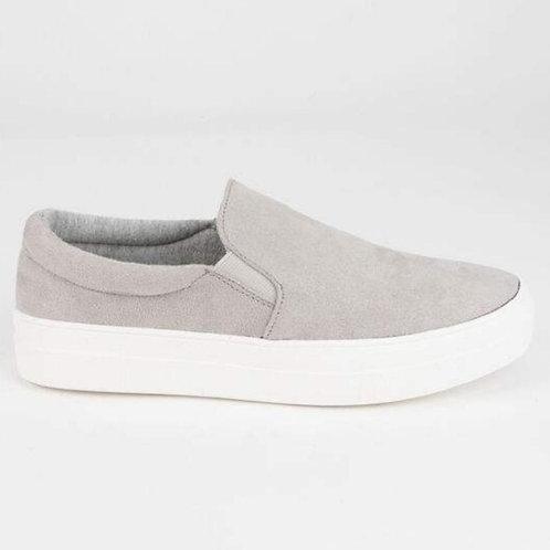 Slip on sneakers in light grey