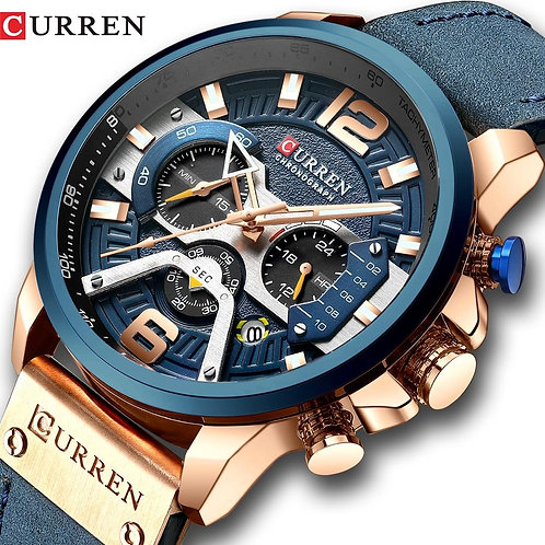 Watch Men Business Watches Orologio Uomo Leather band Wristwatch