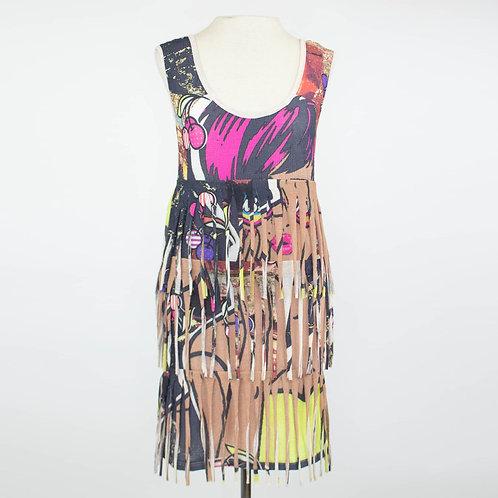 Las Vegas Girl Layered Fringe Tunic Dress