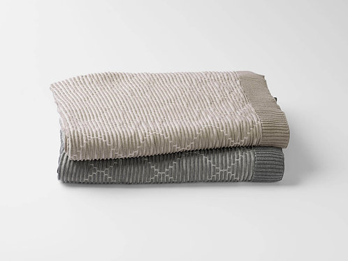 100% Organic Cotton Ogee Knit Throw Blanket