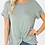 Thumbnail: All knotted up short sleeve top in light green