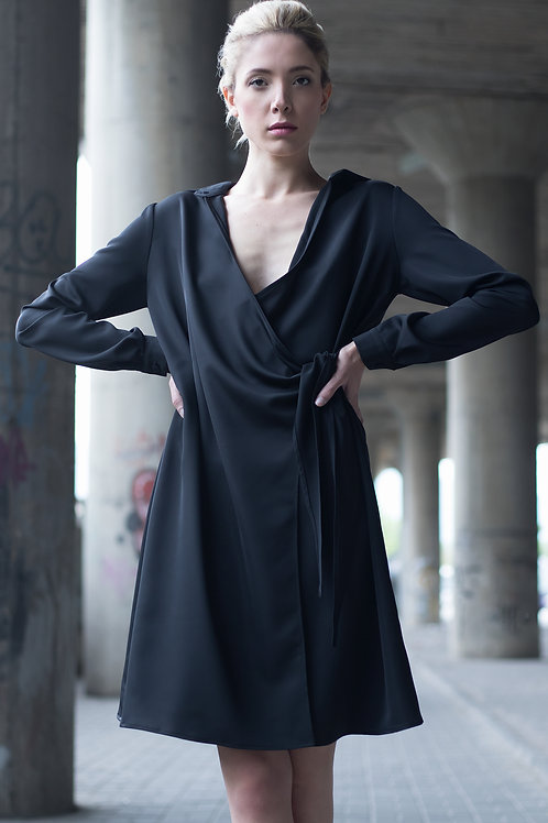 Black Short Shirt Dress