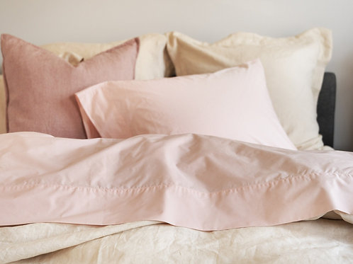 100% Supima Cotton, 400 Thread Count Percale Solid Sheet Set