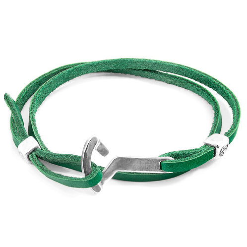 Fern Green Flyak Anchor Silver and Flat Leather