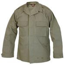 Olive Drab 2 Pocket Tactical Shirt with Epaulets - IRREGULAR
