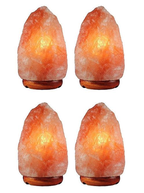 4 Pack Natural Himalayan Salt Lamp, 3-6 lbs