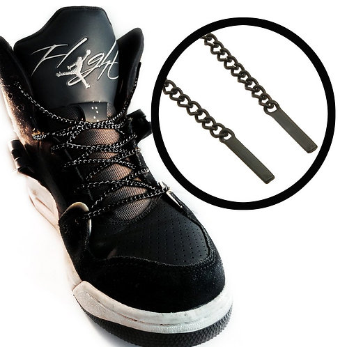 36 Inches Charcoal Chain Shoelaces