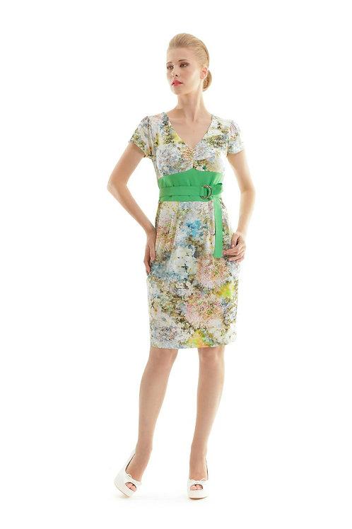 Cap Sleeved Floral Print Dress
