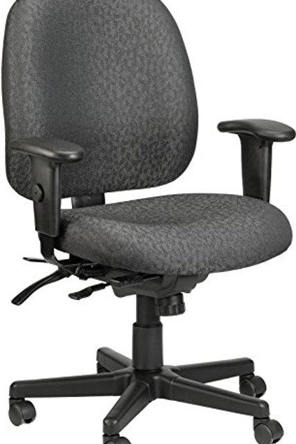 "29.5"" x 26"" x 37"" Charcoal Tilt Tension Control Fabric Chair"