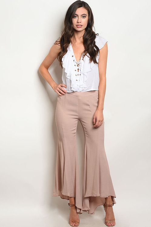Womens Taupe Pants