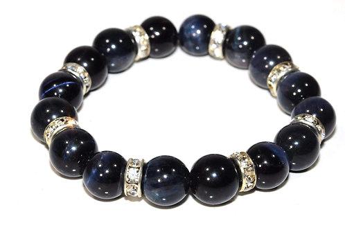 Agate & Pave Charms Yoga Bracelet