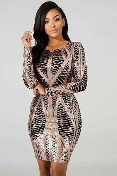 Stella Gold Dress