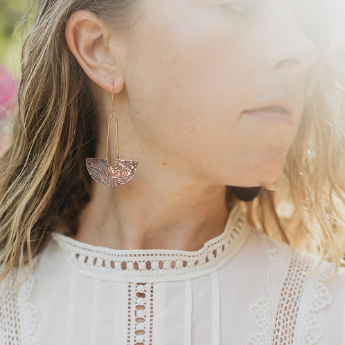 Dark Rose Vine Earrings
