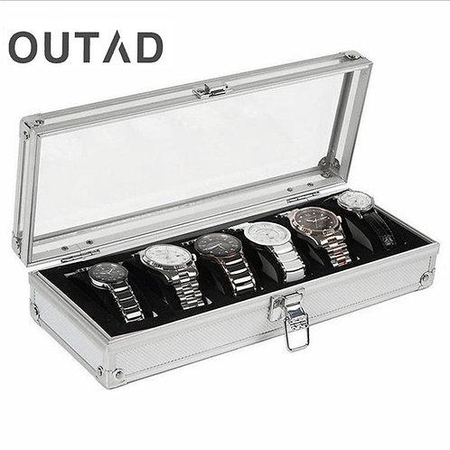 Caja Para Reloj 6 Grid Insert Slots Jewelry Watch