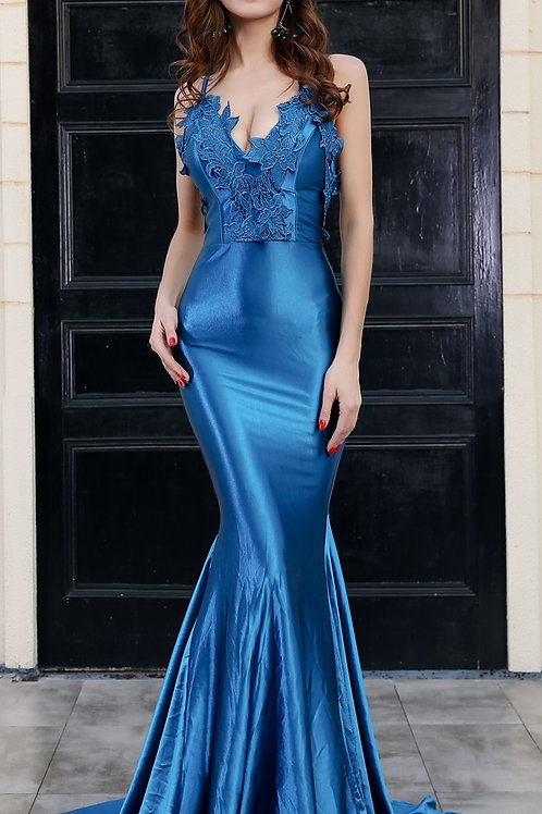 Blue Evening Gown