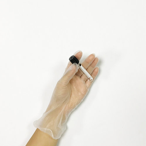 100 count clear color disposable powdered vinyl medical examination gloves