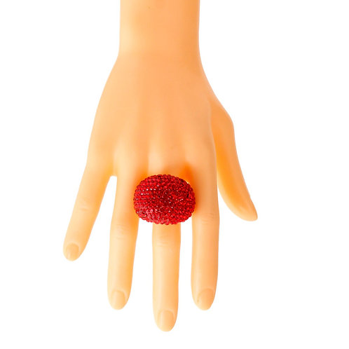 Red and Gold Dome Ring