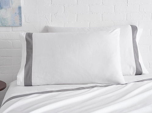 100% Supima Cotton, 500 Thread Count Sateen Banded Sheet Set