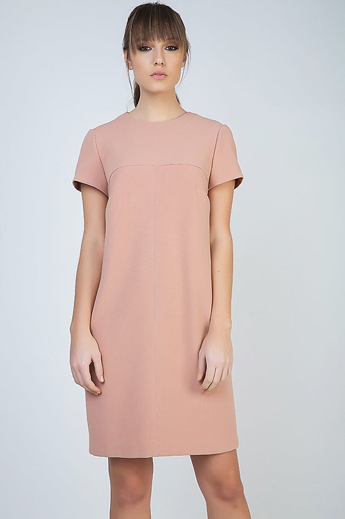 Sack Dress in Crepe Fabric
