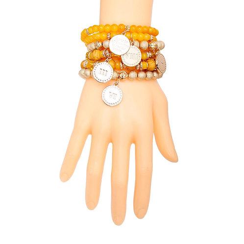 Mustard Commandments Bead Bracelets