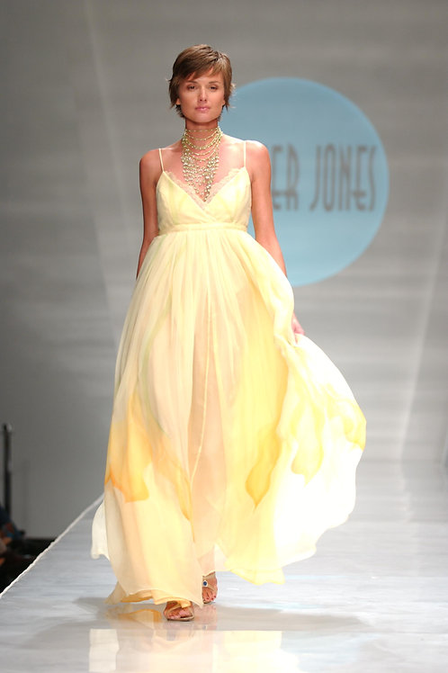 Heather Jones Custard Orchids Dress