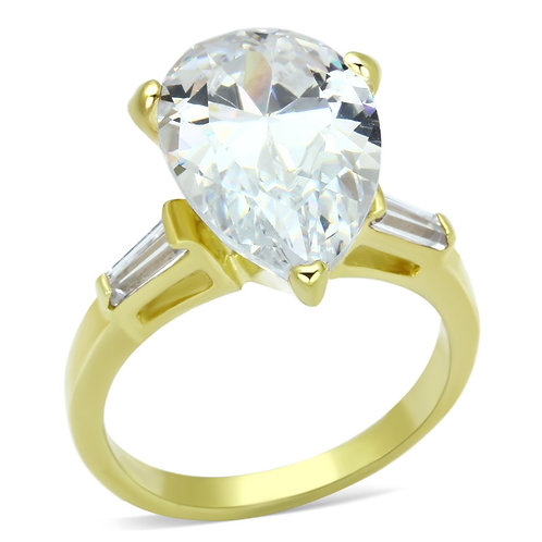LOAS867 Gold 925 Sterling Silver Ring with AAA