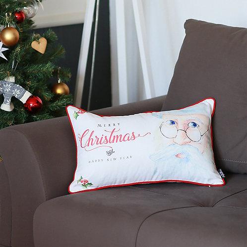 Merry Christmas Lumbar Throw Pillow Cover