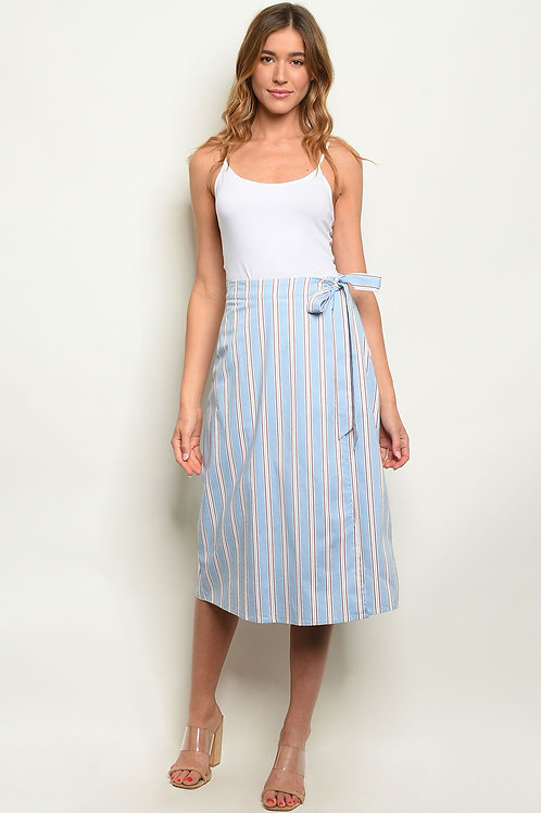 Blue Stripes Skirt