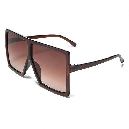 Brown Oversized Square Glasses