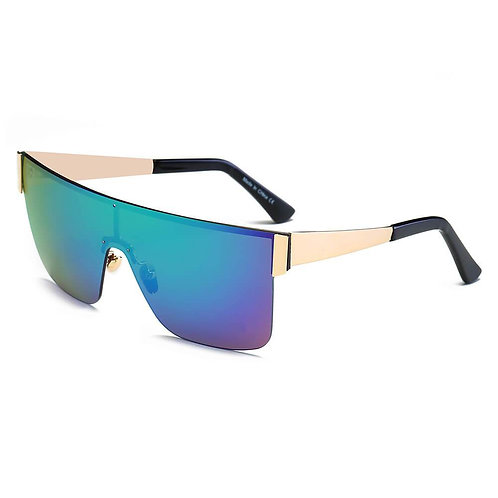 CHARENTON | S2031 - Women Oversized Square Shield Wrap Around Sports Sunglasses