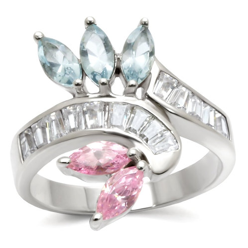 32814 High-Polished 925 Sterling Silver Ring with