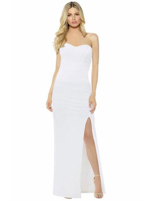 Strapless Evening Dress - White