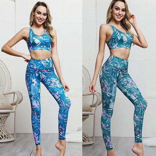 Women Seamless yoga set Fitness Sports Suits GYM Cloth Yoga Sleeveless