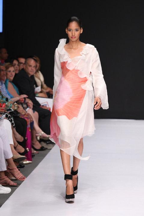 Heather Jones Pink Orchid Wrap Dress
