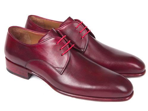 Paul Parkman Burgundy Hand Painted Derby Shoes (ID#633BRD72)